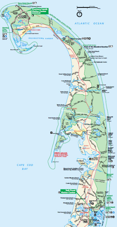 To Do: Cape Cod National Seas - Robert Paul Properties Cape Cod Beaches Map on